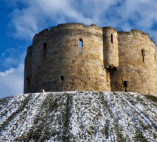 Clifford's Tower, York, in Winter Sticker