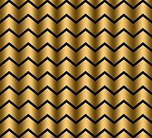 Chic Gold Chevron Pattern by cikedo