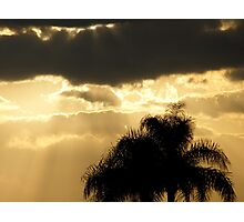 Sunbeams through a cloudy sunset... Photographic Print