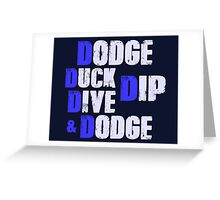 Dodgeball Movie 5 Rules of Dodgeball Greeting Card