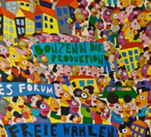 Leipzig wall art Sticker