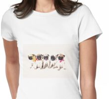 Pug Puppies Womens Fitted T-Shirt