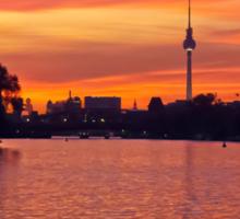 Sunset in Berlin, Germany Sticker