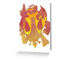 Psychedelic Burning tower Greeting Card