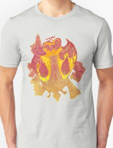 Psychedelic Burning tower T-Shirt