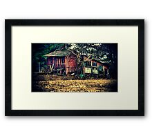 Run-down Shed Framed Print