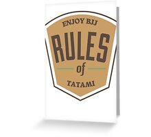 Rules of tatami Greeting Card