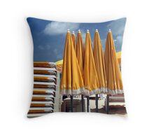 Yellow Beach Throw Pillow