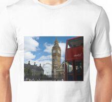London: London eye, big ben and a red bus Unisex T-Shirt