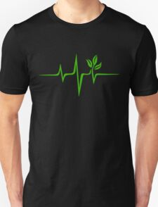 Heartbeat, Pulse Green, Vegan, Frequency, Wave, Earth, Planet T-Shirt