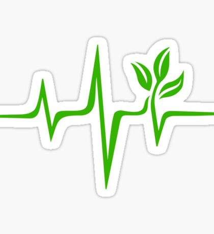 Heartbeat, Pulse Green, Vegan, Frequency, Wave, Earth, Planet Sticker
