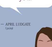 April Ludgate Sticker