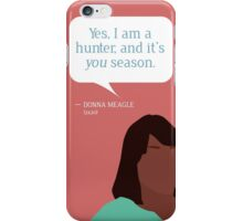 Donna Meagle Greeting Card iPhone Case/Skin