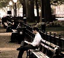 Man in Central Park by abfabphoto