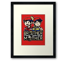 Another MOTHER - Ness & Ninten (alt) Framed Print