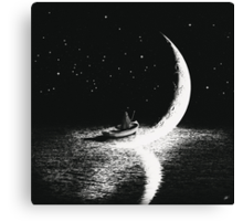 Arrival At Moonlight Canvas Print