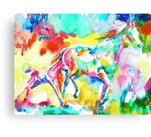 RUNNING HORSE and FOAL.2 Canvas Print