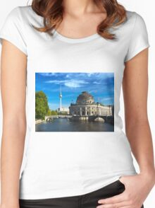 Bode Museum and Fernsehturm tower, Berlin Women's Fitted Scoop T-Shirt