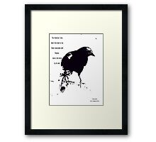 LIVES BY ITS WITS Framed Print