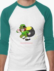 Pixel Leprechaun Men's Baseball ¾ T-Shirt