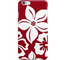 Girly Red White Floral iPhone Case/Skin