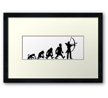 archery darwin evolution bow Framed Print