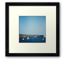 A hot summers sail Framed Print