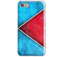 Modern Red Blue Abstract iPhone Case/Skin
