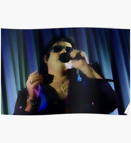 Garry as Elvis - White Light - mcu - Singing  Poster