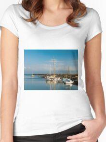 Boats (Île de Noirmoutiers - Vendée, France) Women's Fitted Scoop T-Shirt