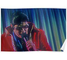 Canberra Elvis - Red Suit- mcu - Singing  Poster