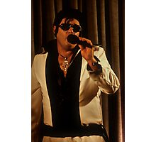 Canberra Elvis - White Suit - ms - Singing  Photographic Print