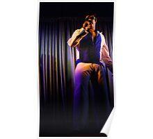 Canberra Elvis - White Suit - LS - Singing  Poster