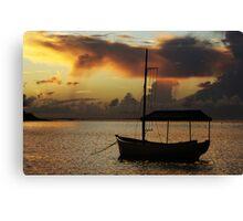 Boat Silhouette Canvas Print