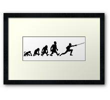 fencing escrime darwin evolution Framed Print