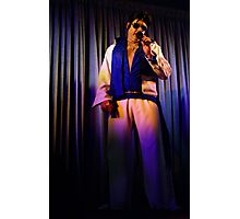Canberra Elvis - White Suit - Down - LS - Singing  Photographic Print