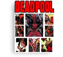 Deadpool Comic Strip Design Canvas Print