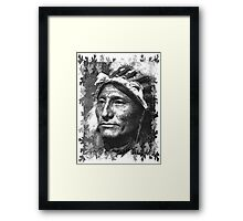 Vintage Native American Portrait In Black and White Framed Print