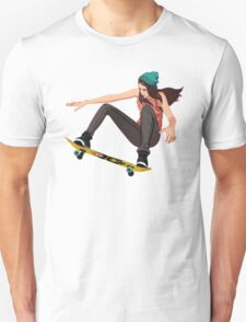 Skateboard chick  Unisex T-Shirt