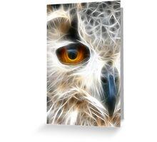 Eagle (Owl) Eye 2 Greeting Card