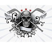 Hockey Skull Photographic Print