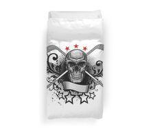 Hockey Skull Duvet Cover