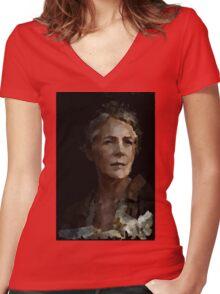 The Walking Dead Carol.  Women's Fitted V-Neck T-Shirt