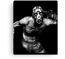 Borderlands - Psycho Black and White (2) Canvas Print