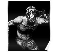 Borderlands - Psycho Black and White (2) Poster