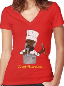Chef Harden Women's Fitted V-Neck T-Shirt