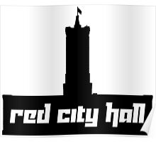 Red City Hall Poster