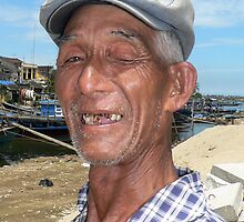 Hoi An fisherman by John Mitchell