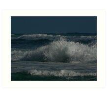 Caving Wave Art Print