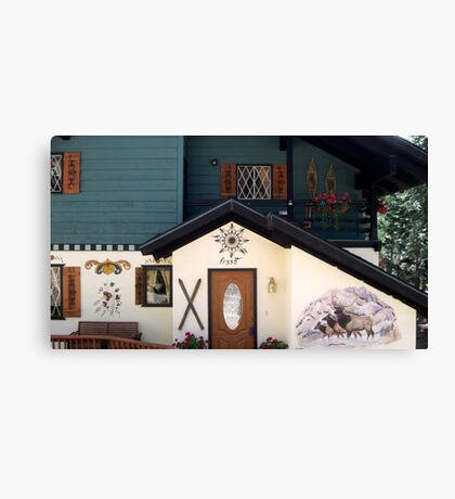 Behold this chalet ! Canvas Print